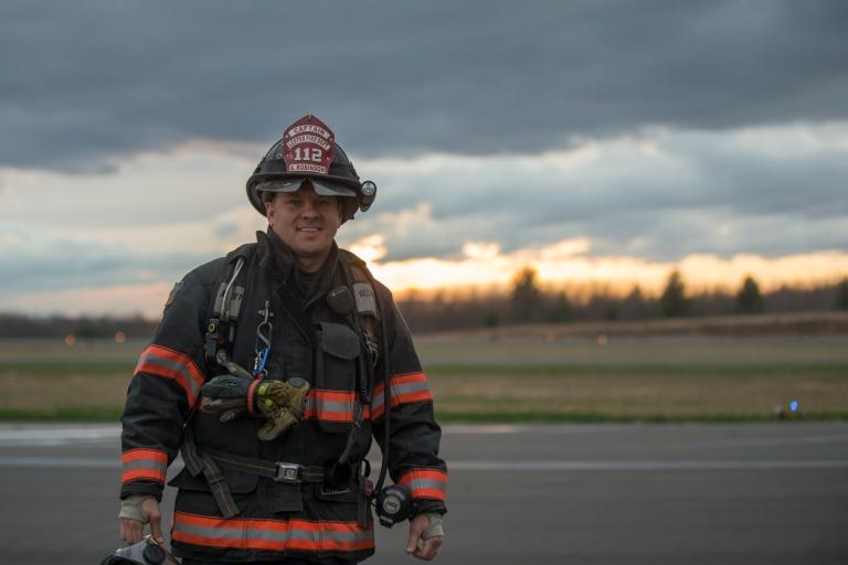 Captain Allen Robinson of Lester Fire Dept., West Virginia