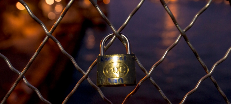 Raechel's lock to her boyfriend.