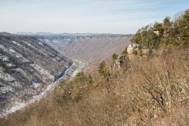 Hiking Beauty Mountain in New Haven, West Virginia, on March 6, 2014